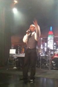 Hairston ushering the audience into worship