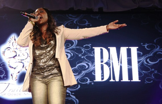 "Anyasha Figueroa sings ""Holy One""(Photo Credit: BMI)"