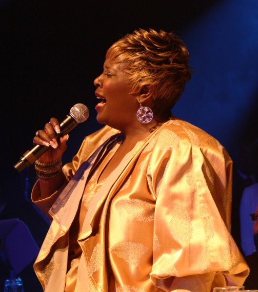 "Tramaine Hawkins sings her hit ""Changed""(Photo Credit: BMI)"