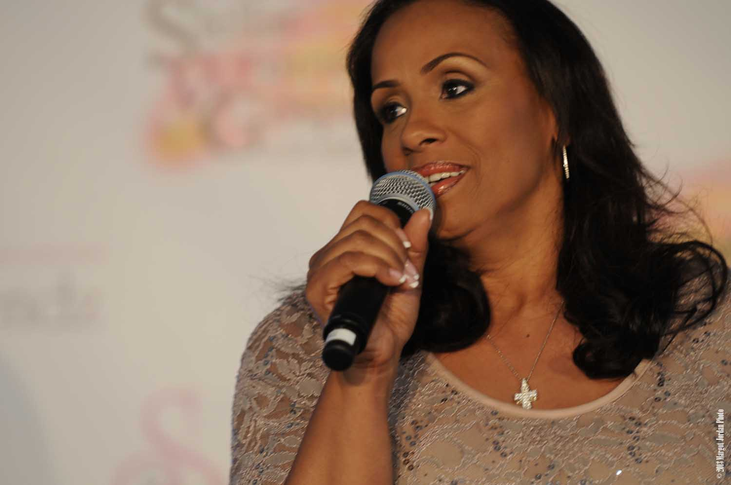 Toya Beasley, President and CEO of Sista Friendz Organization Giving Welcome 